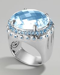 John Hardy - Sky Blue Topaz Dome Ring - Lyst