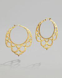 John Hardy - Metallic Gold Lace Hoop Earrings - Lyst