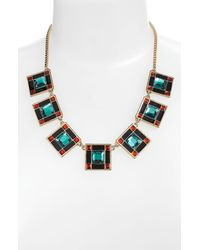 kate spade new york | Metallic Daylight Jewels Bib Necklace | Lyst
