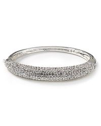 Lauren by Ralph Lauren | Metallic Crystal Hinged Bracelet | Lyst