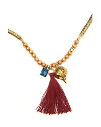Lizzie Fortunato | Metallic Pyramid Necklace | Lyst