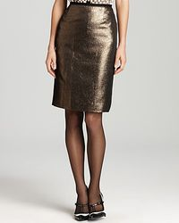 Tory Burch | Gold Brandy Skirt | Lyst