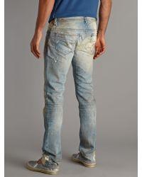 DIESEL | Blue Thavar 880m Straight Fit Jeans for Men | Lyst