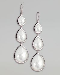 Ippolita - Metallic Triple Teardrop Earrings - Lyst
