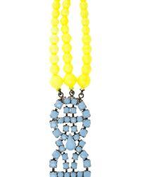 Tom Binns - Blue Bicolour Beaded Bracelet - Lyst