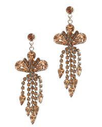 Tom Binns | Metallic Bronze Crystal Drop Earrings | Lyst