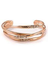 Alexis - Metallic Bittar Cuff Rose Gold and Crystal Orbitting - Lyst