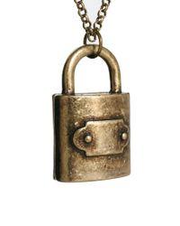 ASOS - Metallic Asos Padlock Necklace for Men - Lyst