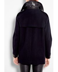 Belstaff | Blue Ink Bromley Over-sized Wool Pea Coat | Lyst