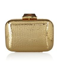 KOTUR | Metallic Morley Croc-embossed Box Clutch | Lyst