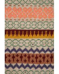 TOPSHOP - Multicolor Knitted Fairisle Jumper - Lyst