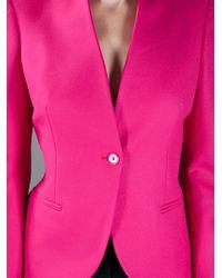 Alexander McQueen | Purple Single Breasted Blazer | Lyst