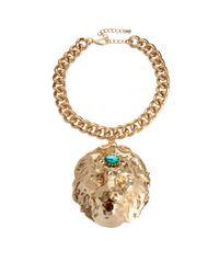 ASOS | Metallic Premium Lion Collar Necklace | Lyst