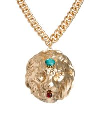 ASOS - Metallic Premium Lion Collar Necklace - Lyst
