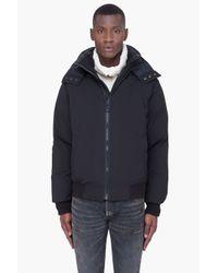 Cmfr | Black Mink Fur Hood Oxton Bomber Jacket for Men | Lyst