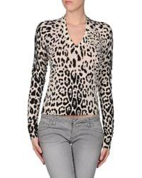Dolce & Gabbana | Multicolor Leopard Print Cardigan | Lyst