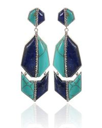 Kara Ross | Green Kara Ross Earrings | Lyst