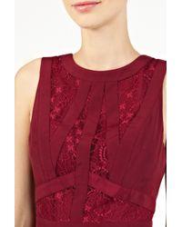 Oasis | Purple Gothic Lace Dress | Lyst