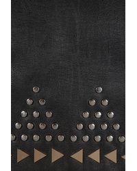 TOPSHOP - Black Studded Clutch - Lyst