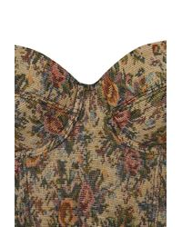 TOPSHOP | Multicolor Tapestry Corset | Lyst