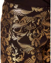 ASOS - Multicolor Skinny Jeans in Metallic Baroque Print - Lyst
