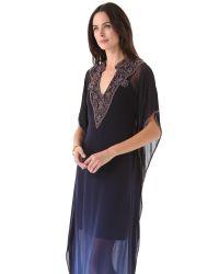 Dallin Chase - Blue Trace Caftan Dress - Lyst