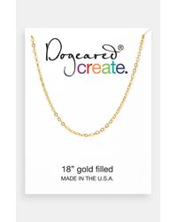Dogeared | Metallic Create Link Necklace | Lyst