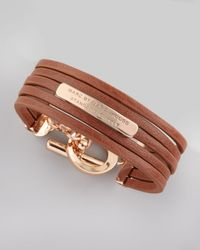 Marc By Marc Jacobs | Brown Leather Toggle Bracelet | Lyst