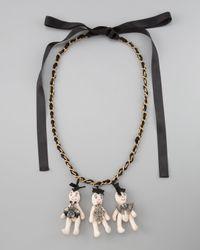 Marni - White Three Doll Necklace - Lyst