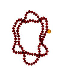 Ted Baker | Red Ted Baker Bead Single Strand Necklace | Lyst