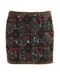 TOPSHOP | Multicolor Premium Embellished Skirt | Lyst