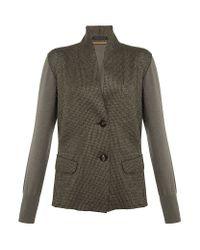 Lamberto Losani - Gray Knitted Jacket - Lyst