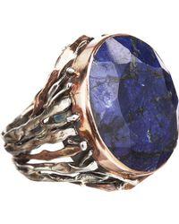 Sandra Dini | Blue Rough Sapphire Ring | Lyst
