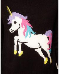 ASOS | Black Unicorn Jumper | Lyst