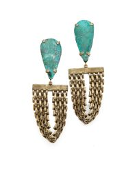 Citrine by the Stones - Blue Toltec Earrings - Lyst