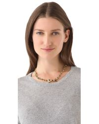 Marc By Marc Jacobs - Gray Polka Dot Bow Short Necklace - Lyst