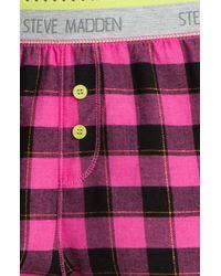 Steve Madden | Pink Pattern Play Boxer Shorts | Lyst