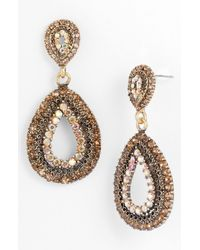 Tasha | Multicolor Teardrop Statement Earrings | Lyst