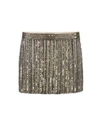 AllSaints | Metallic Voltaire Skirt | Lyst