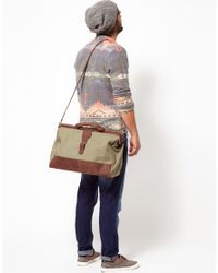 ASOS Green Asos Canvas and Leather Doctors Bag for men