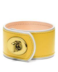COACH | Yellow Medium Leather Turnlock Cuff | Lyst