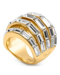 COACH | Metallic Baguette Pierced Domed Ring | Lyst