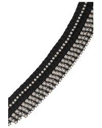 Alyssa Norton - Black Braided Silk and Diamanté Bracelet - Lyst