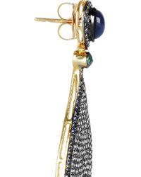 Artisan - Metallic 18karat Goldplated Diamond and Sapphire Earrings - Lyst