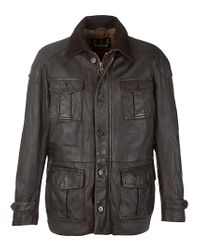 Barbour | Barbour Load Leather Jacket Brown for Men | Lyst