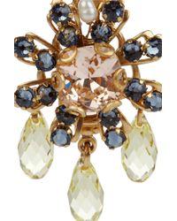 Bijoux Heart - Metallic Daisy 24karat Goldplated Swarovski Crystal Earrings - Lyst