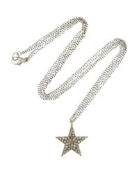 Chan Luu - Metallic Silver Diamond Star Necklace - Lyst