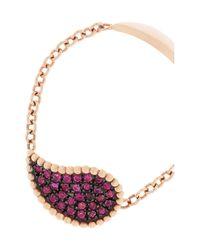 Diane Kordas - Pink Teardrop 18karat Rose Gold Sapphire Ring - Lyst