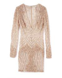 Elie Saab | White Vanilla Fully Embroidered Mini Dress | Lyst