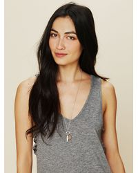 Free People - Metallic Coin Pocket Knife Pendant - Lyst
